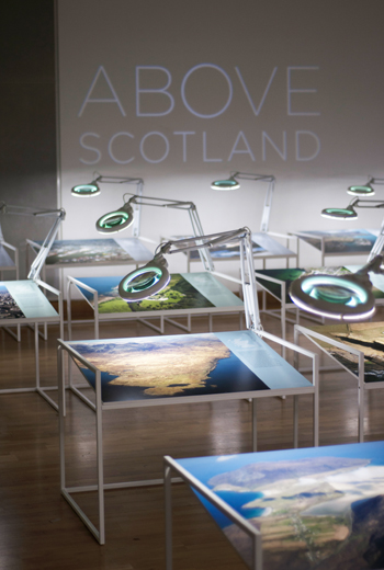 Above Scotland installation photography
