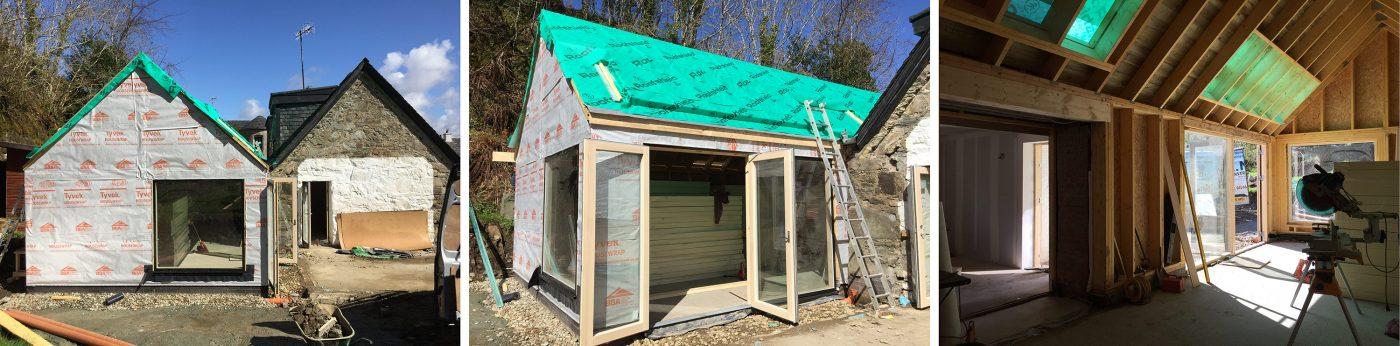 Construction progress at Crinan
