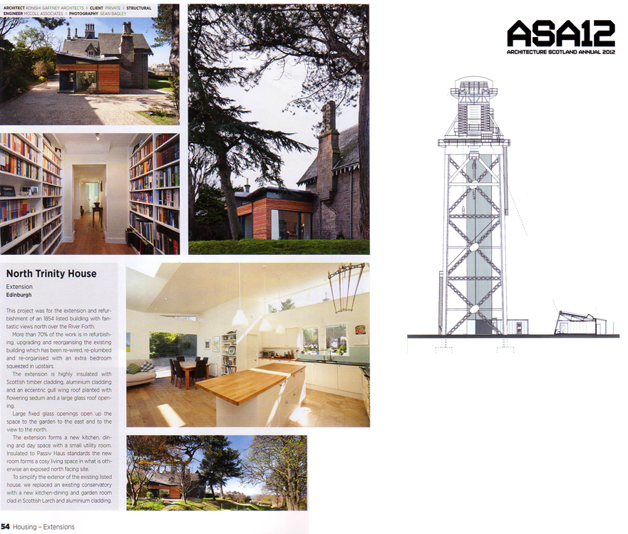 Our Trinity House project published in the Architecture Scotland Annual.