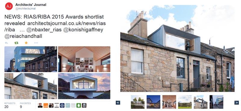 RIAS/RIBA architecture award shortlist