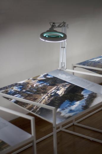 Above Scotland installation photography