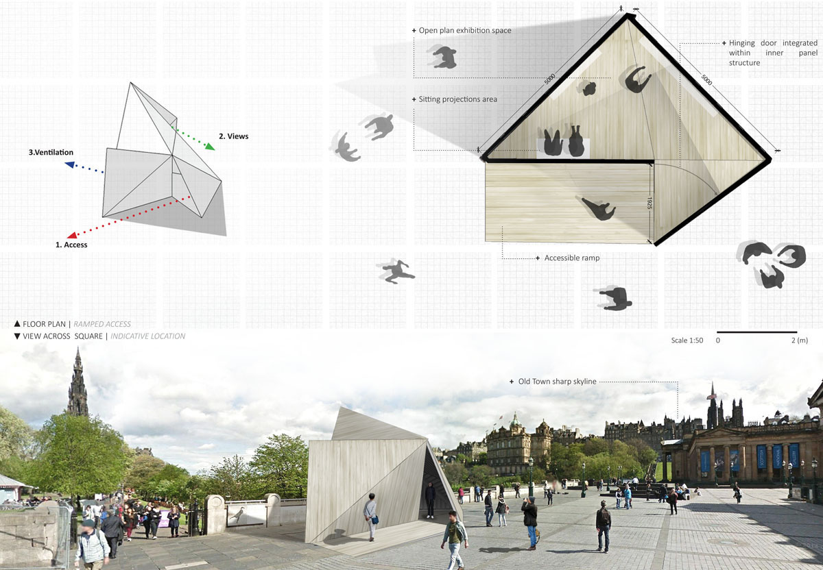 Pop Up Edinburgh pavillion plans