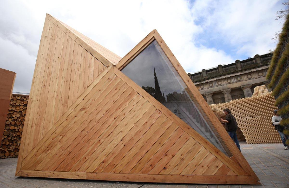 Pop Up Edinburgh pavillion photography