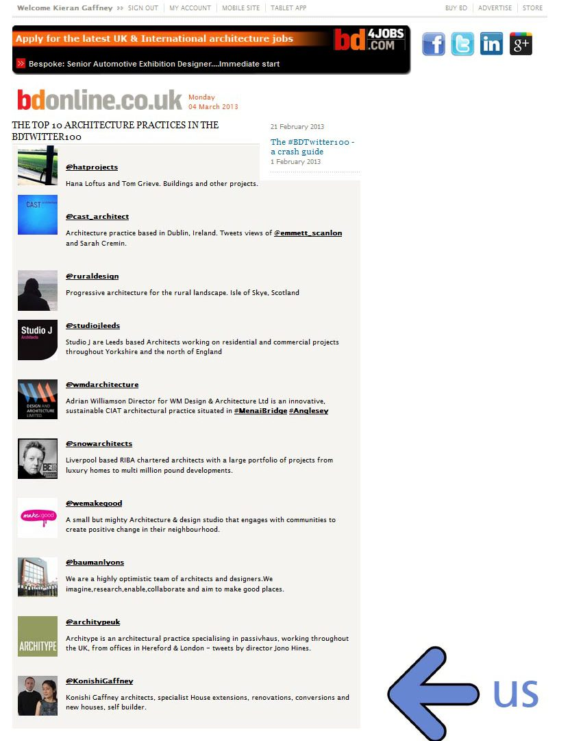 top 10 UK Architects! [who tweet]