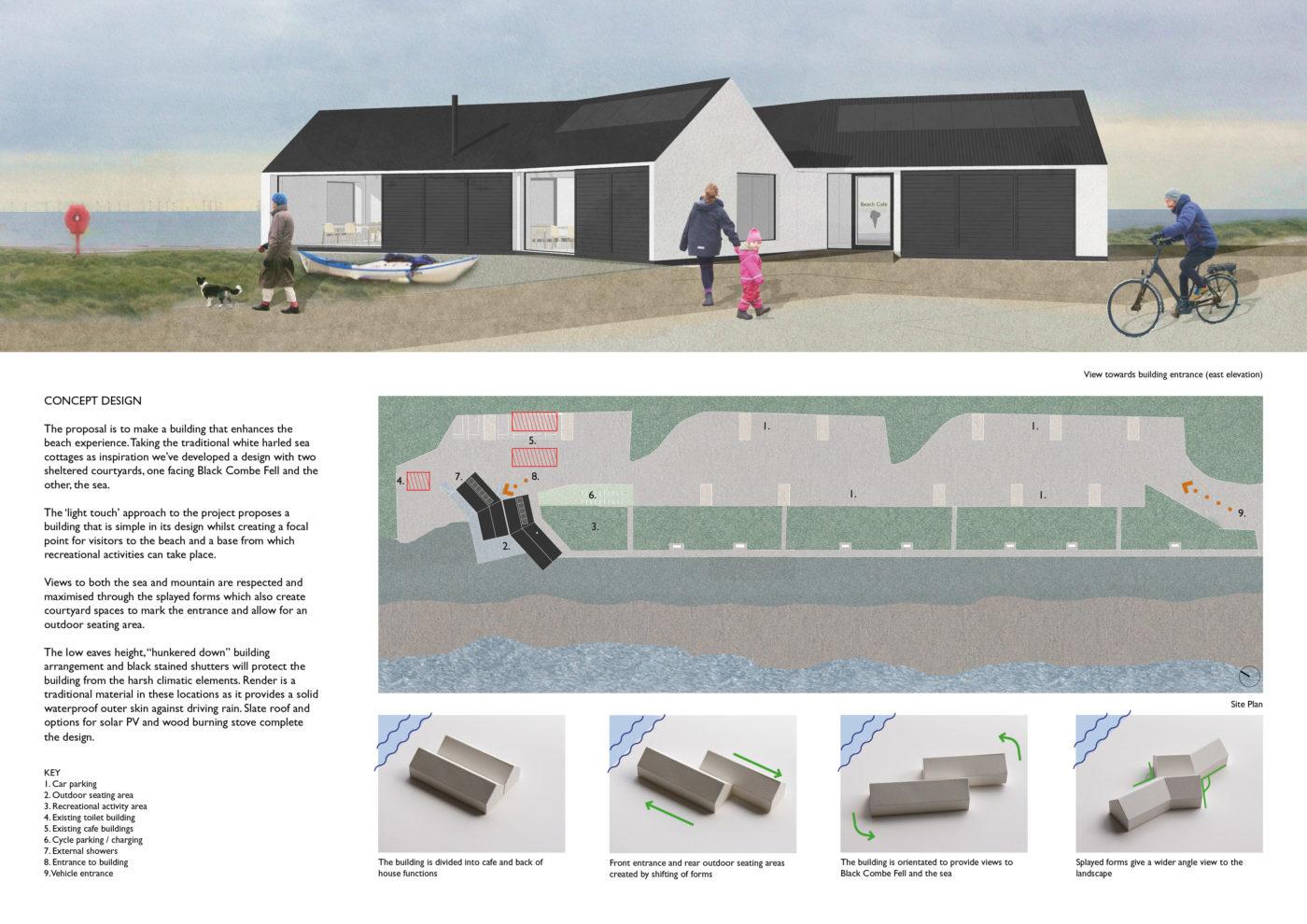 Silecroft beach cafe winning design