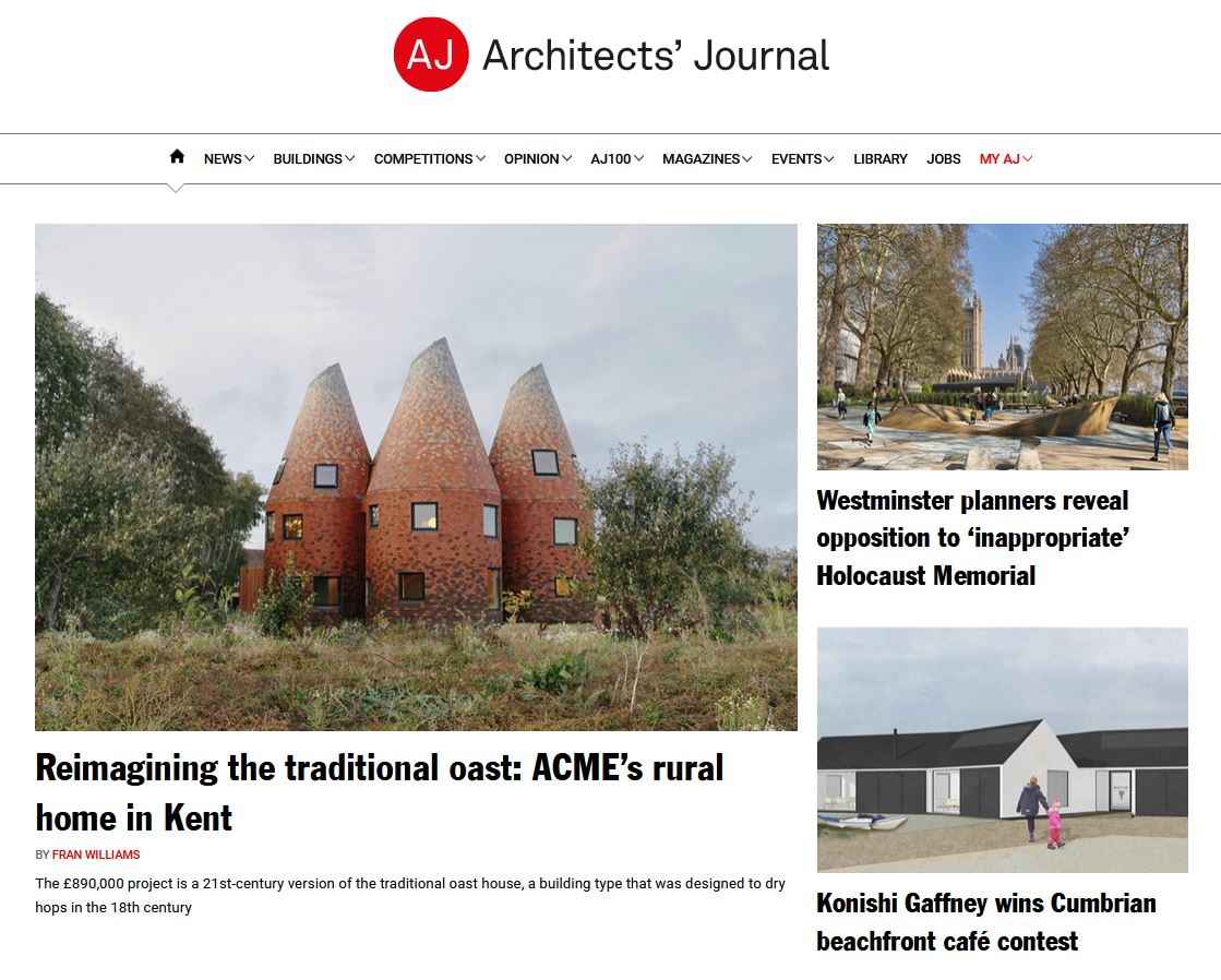 Architects Journal News screengrab